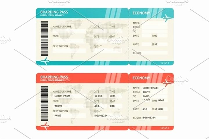 Boarding Pass Template Photoshop Elegant 27 Travel Ticket Templates Psd Ai Word