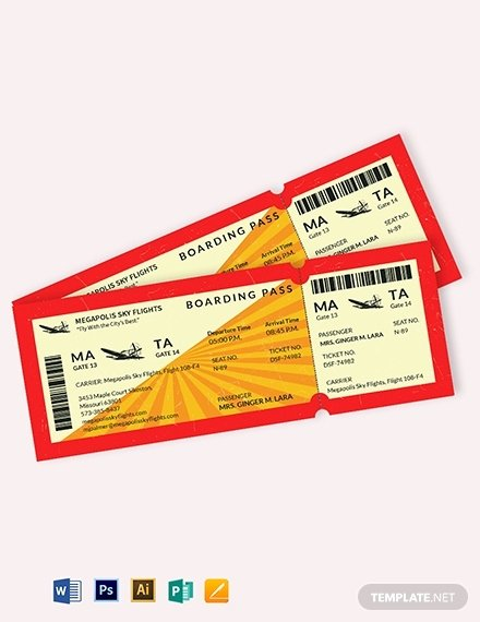 Boarding Pass Template Photoshop Fresh 9 Bridal Shower Boarding Pass Ticket Templates