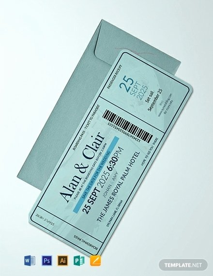Boarding Pass Template Photoshop Luxury 10 Wedding Ceremony Boarding Passes In Illustrator