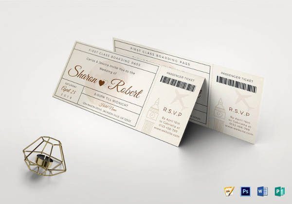Boarding Pass Template Photoshop Luxury 36 Printable Ticket Templates Psd Ai Word