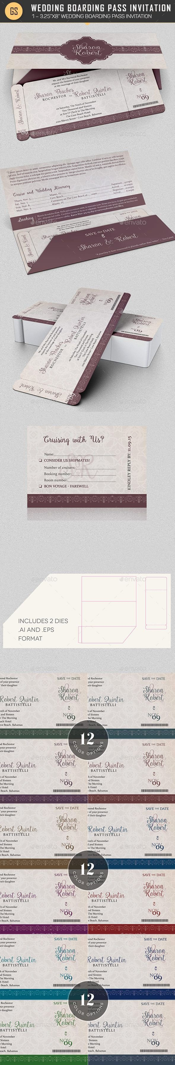 Boarding Pass Template Photoshop Luxury Pin by Bashooka Web & Graphic Design On Wedding Invitation