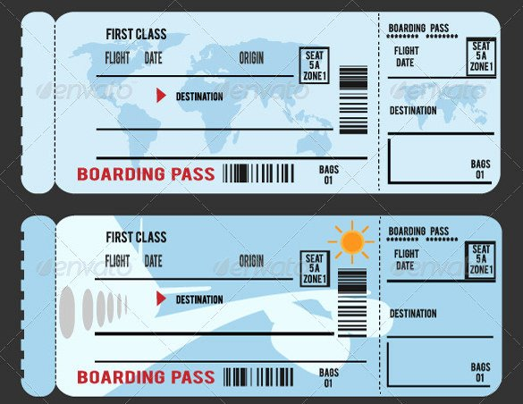 Boarding Pass Template Photoshop New 34 Examples Of Boarding Pass Design & Templates Psd Ai