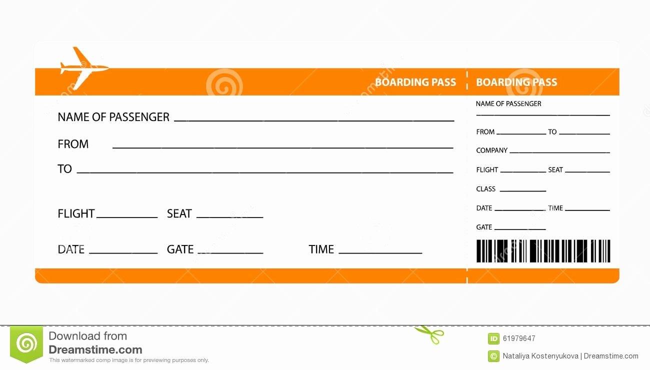 Boarding Pass Template Photoshop Unique Plane Ticket Template