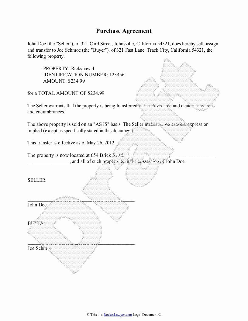 Boat Purchase Agreement Template Awesome Equipment Sales Agreement Template