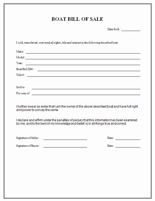 Boat Purchase Agreement Template Beautiful Louisiana Purchase and Sale Agreement form