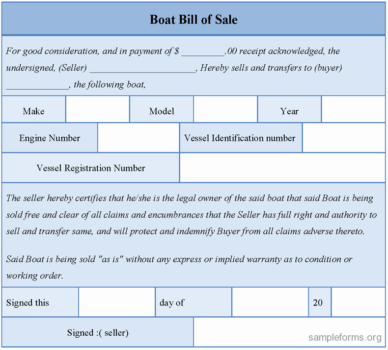 Boat Purchase Agreement Template Inspirational Boat Bill Of Sale Sample forms