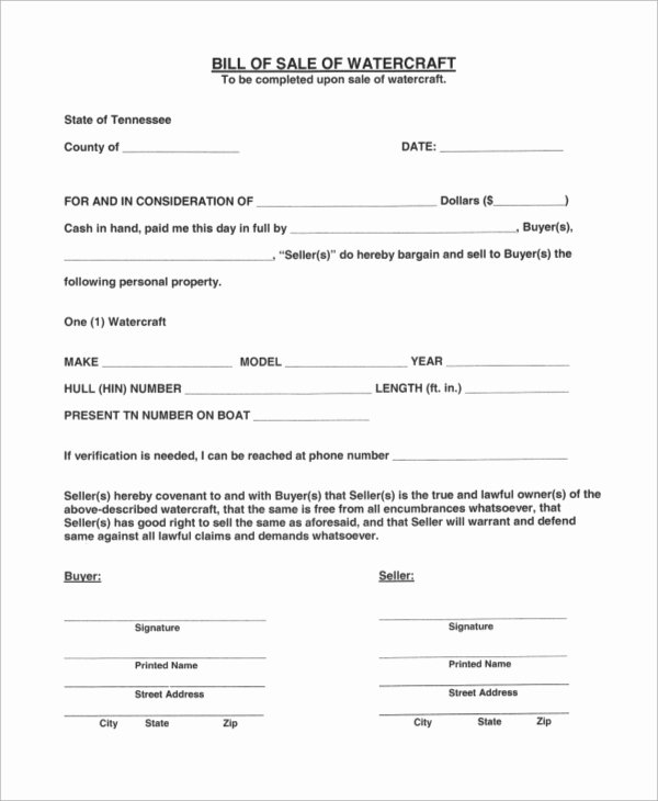 Boat Purchase Agreement Template Unique Sample Boat Bill Of Sale 7 Examples In Pdf
