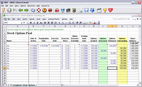 Bonus Plan Template Excel Luxury Stock Options software Template Jian