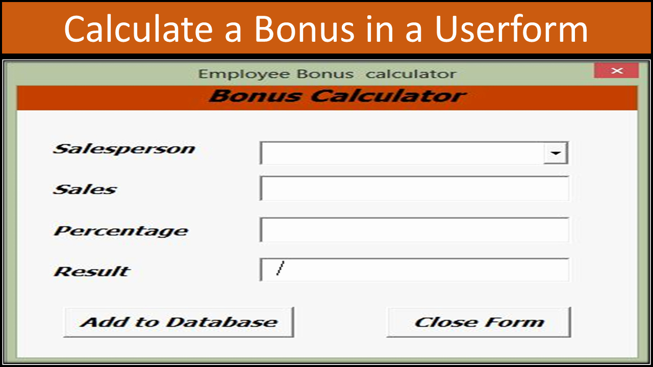 Bonus Plan Template Excel New Excel Vba Bonus Calculator Line Pc Learning