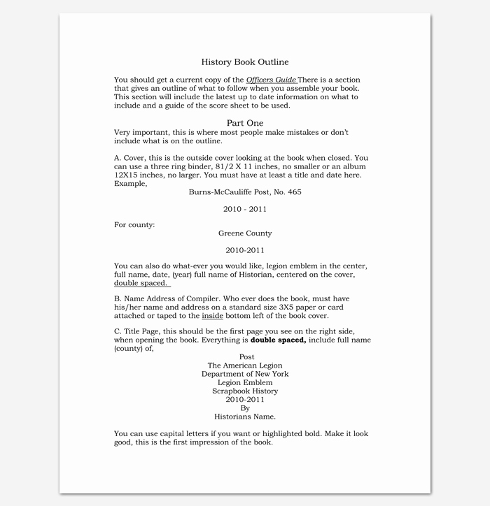 Book Outline Template Microsoft Word Beautiful Book Outline Template 17 Samples Examples and formats