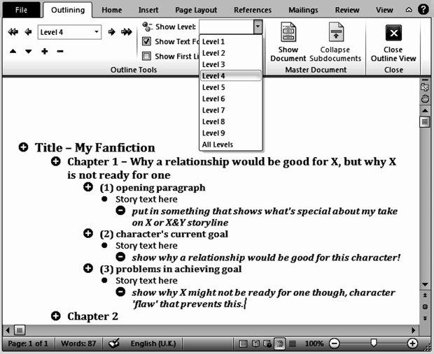 Book Outline Template Microsoft Word Elegant Tips for Outlining Your Fanfiction Novel – Fan Fic Magazine