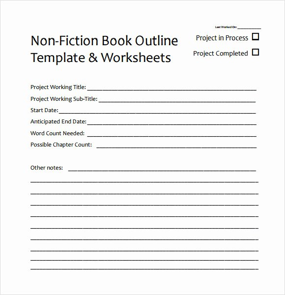 Book Outline Template Microsoft Word Luxury Free 7 Useful Book Outline Templates In Pdf