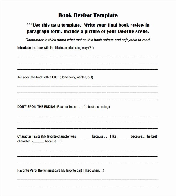 Book Review Template Pdf Beautiful Book Review Template 7 Download Documents In Pdf Word