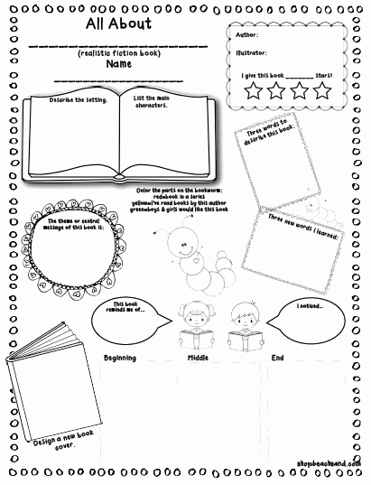 Book Review Template Pdf Fresh Book Report Outline for 3rd Graders Lynuz