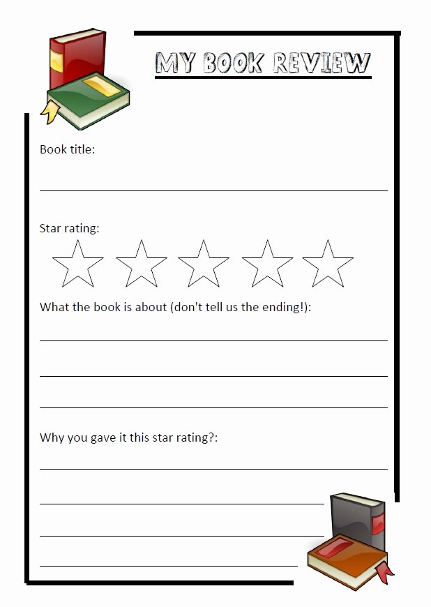 Book Review Template Pdf Inspirational Simple Book Review Template – Primary Resources Of An Nqt