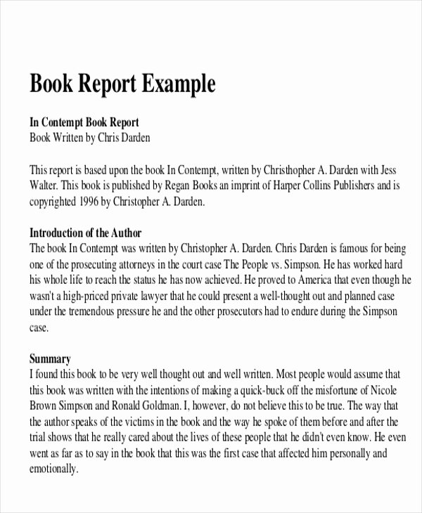 Book Review Template Pdf New 10 Sample Book Report Free Sample Example format Download