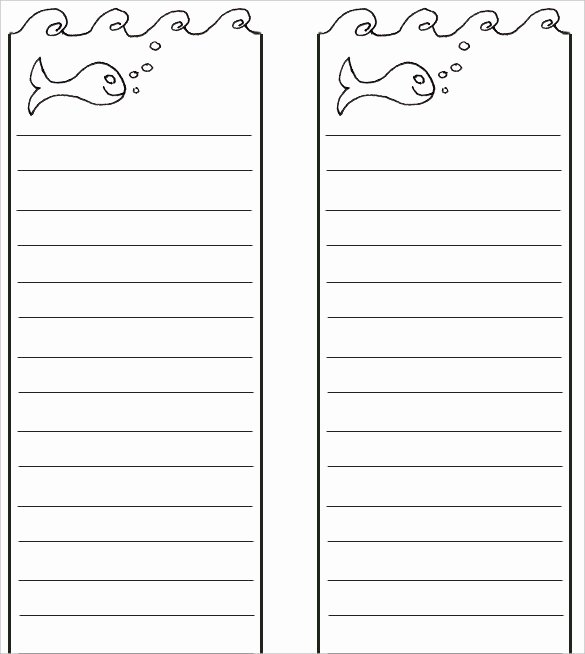 Bookmark Template for Word Awesome Blank Bookmark Template – 135 Free Psd Ai Eps Word