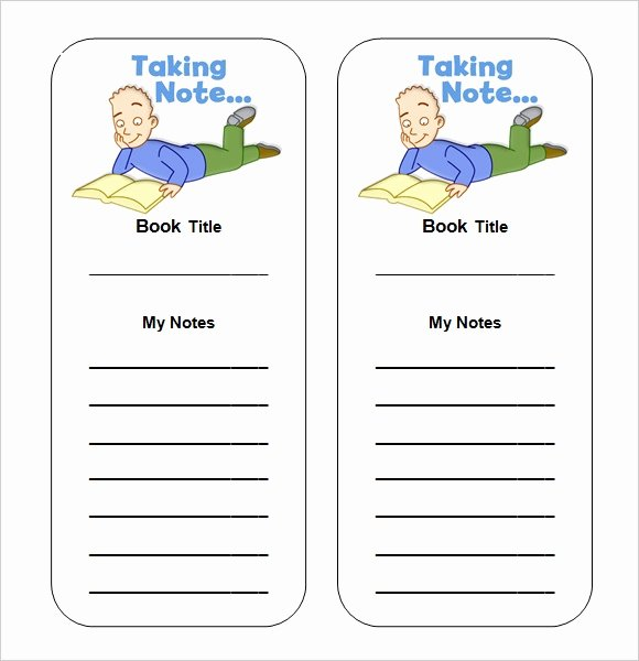 Bookmark Template for Word Awesome Sample Blank Bookmark 6 Documents In Pdf Word