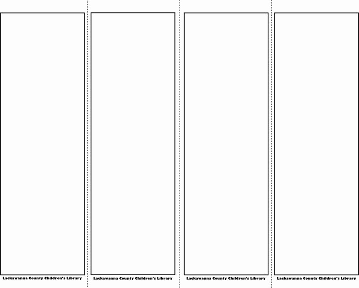 Bookmark Template for Word Beautiful Bookmark Template