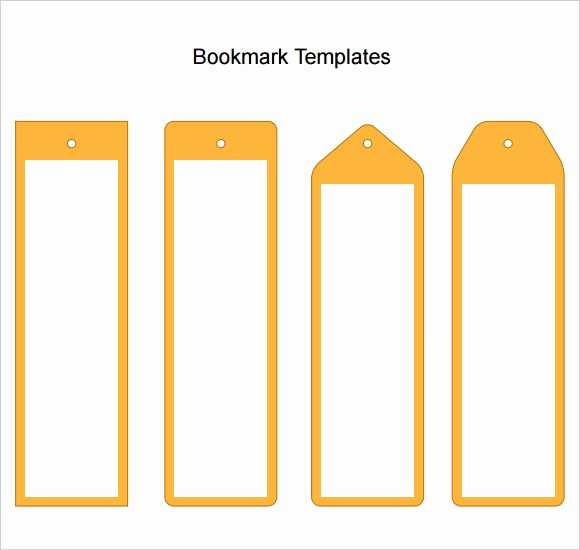 Bookmark Template for Word Beautiful Free 6 Sample Blank Bookmarks In Pdf