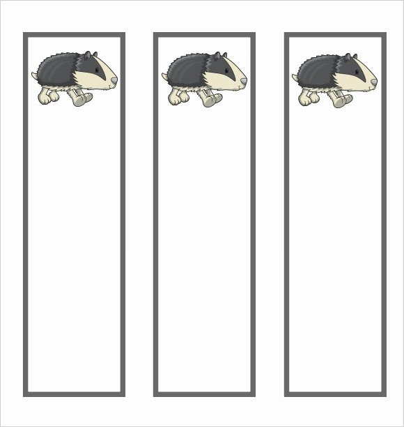 Bookmark Template for Word Inspirational Sample Blank Bookmark 6 Documents In Pdf Word