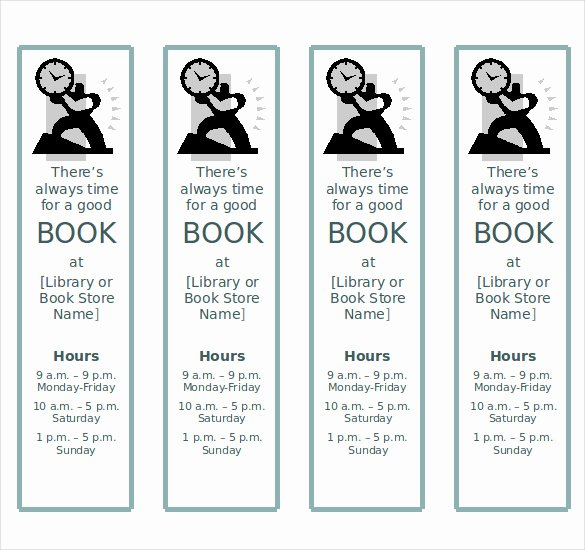 Bookmark Template for Word Luxury 8 Word Bookmark Templates Free Download