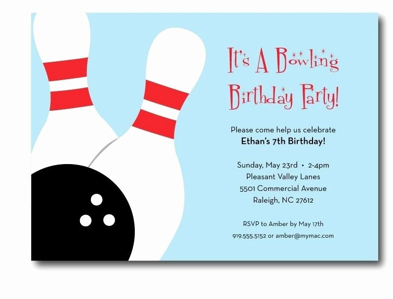Bowling Party Invitation Template Awesome Bowling Invitations Templates Free
