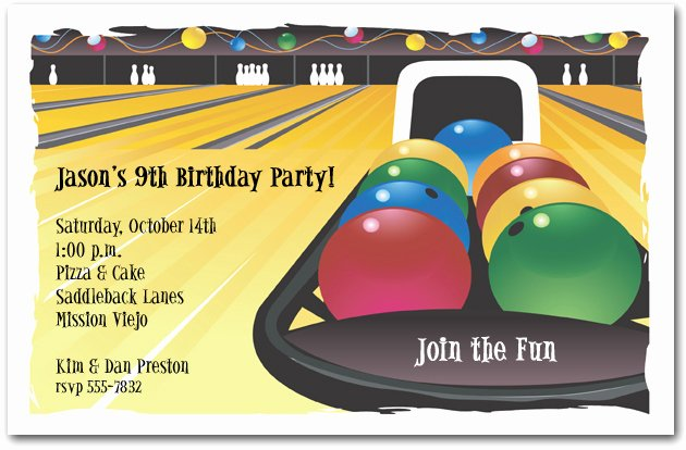 Bowling Party Invitation Template Beautiful Bowling Invitation Bowling Birthday Invitation