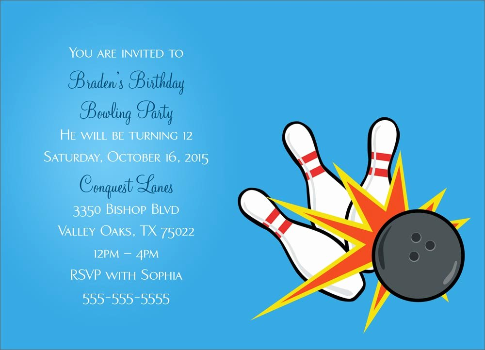 Bowling Party Invitation Template Best Of Bowling Party Invitation Party Greeting Cards by Cardsdirect