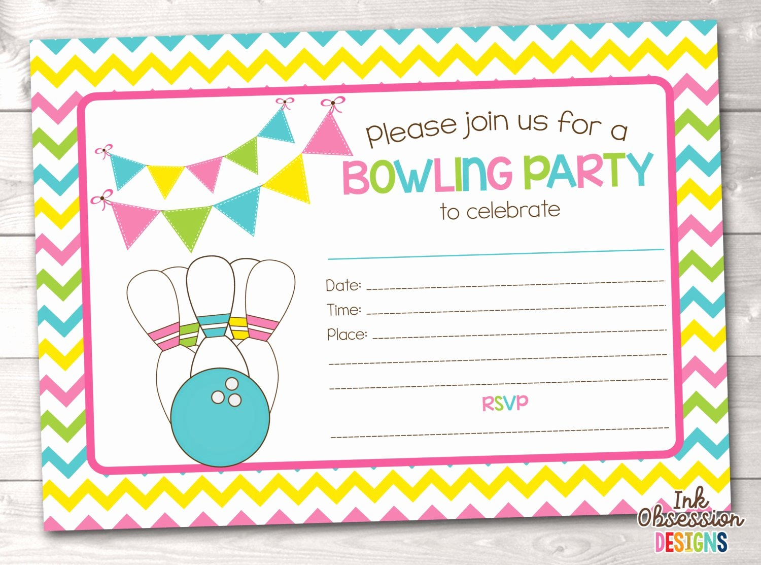 Bowling Party Invitation Template Best Of Printable Bowling Party Invitation Fill In the Blank Birthday