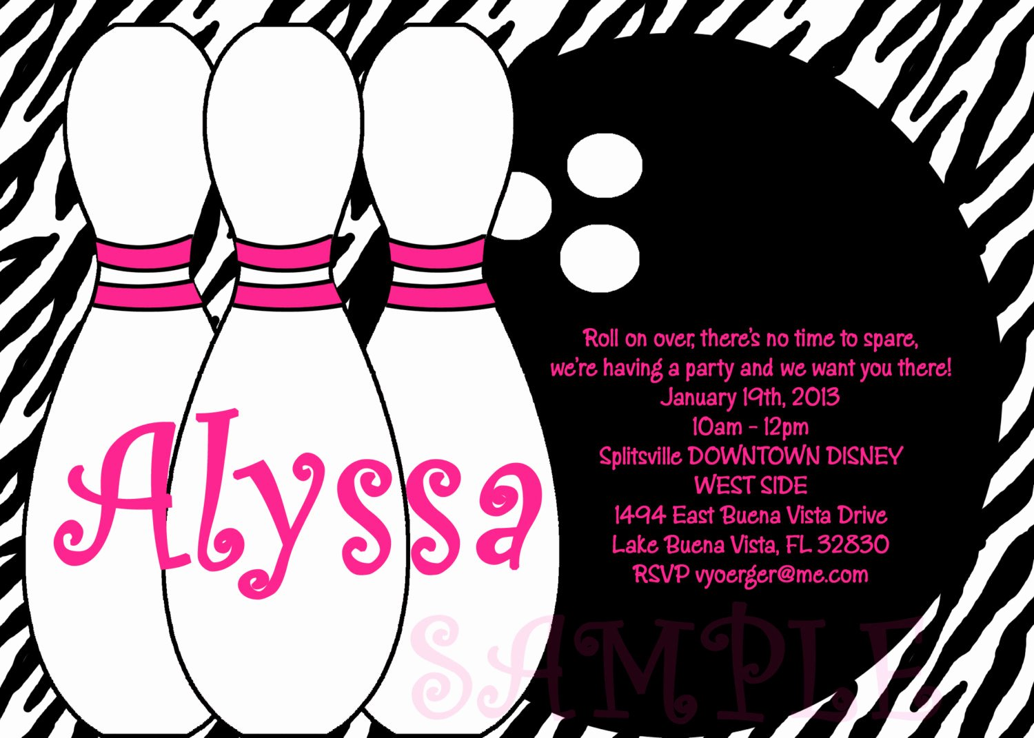 Bowling Party Invitation Template Elegant Birthday Invitations Bowling Party Invitations Templates