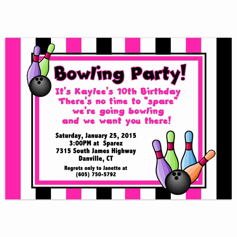 Bowling Party Invitation Template Elegant Free Bowling Birthday Party Invitations Template