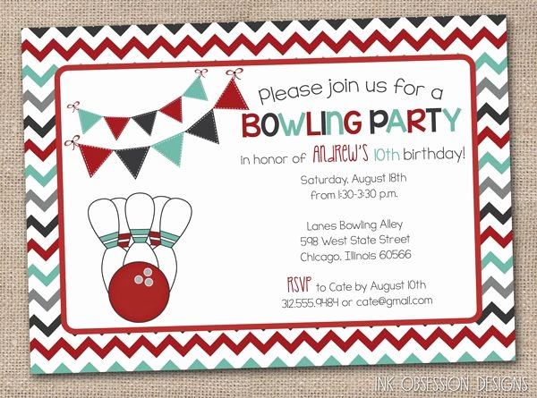 Bowling Party Invitation Template Fresh 54 Best Printable Birthday Invitation Images On Pinterest