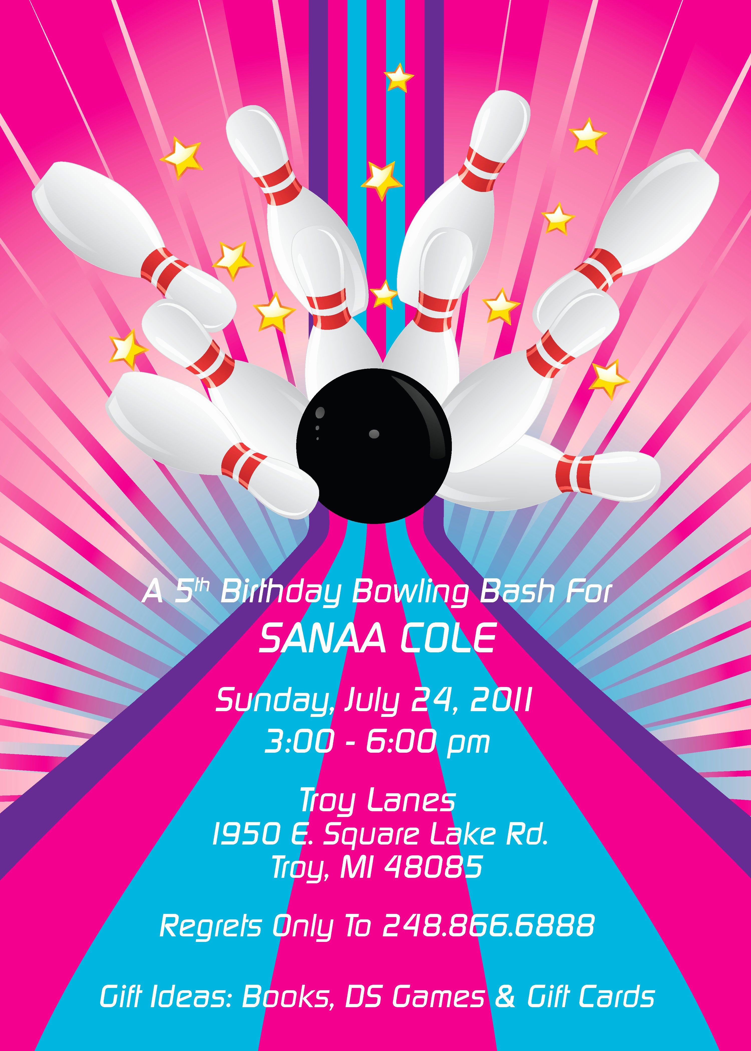 Bowling Party Invitation Template Inspirational Colorful and Fun Children S Party Invitations