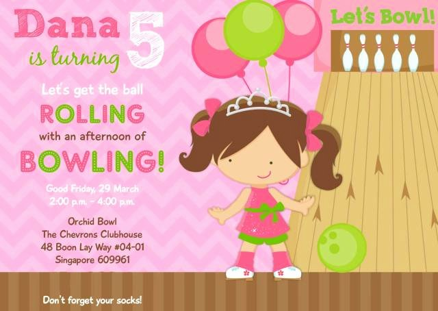 Bowling Party Invitation Template Lovely Dana S 5th Birthday Bowling Party Princess & the Pins