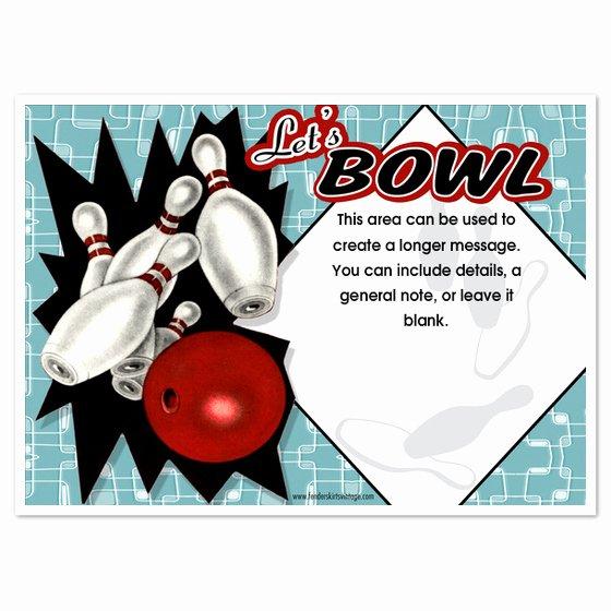Bowling Party Invitation Template New Retro Bowling Party Invitations Invitations & Cards On
