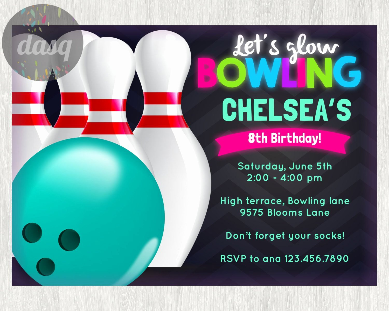 Bowling Party Invitation Template Unique Birthday Bowling Party Invitations