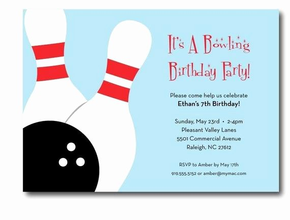 Bowling Party Invitation Template Unique Bowling Birthday Party Invitation Printable