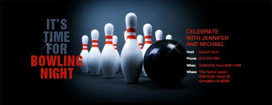 Bowling Party Invitation Template Unique Send Free Online Bowling Party or League Invitations