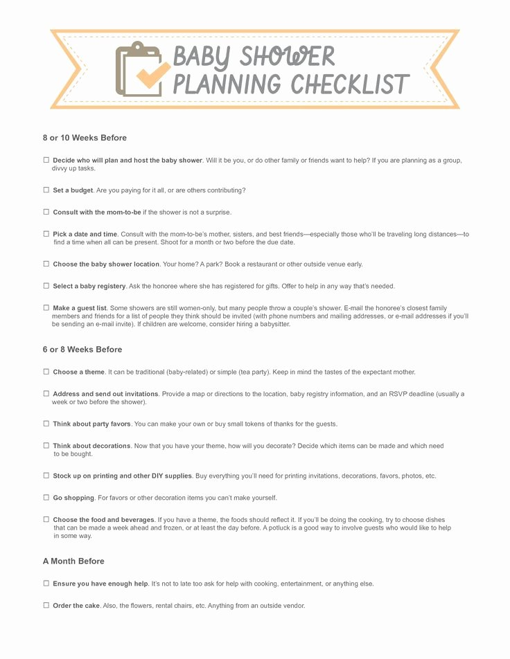 Bridal Shower Checklist Template Fresh Template for Bowtie for A Baby Shower