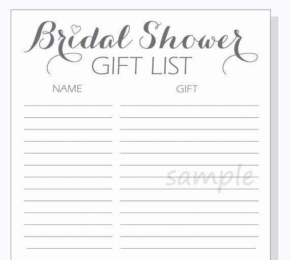 diy bridal shower t list printable