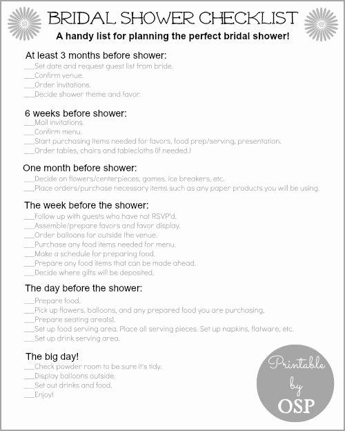 Bridal Shower Checklist Template Unique 10 Best Ideas About Bridal Shower Checklist On Pinterest