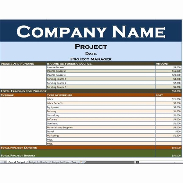 Budget Proposal Template Excel Elegant Use This Excel Project Bud Template to Simplify Your
