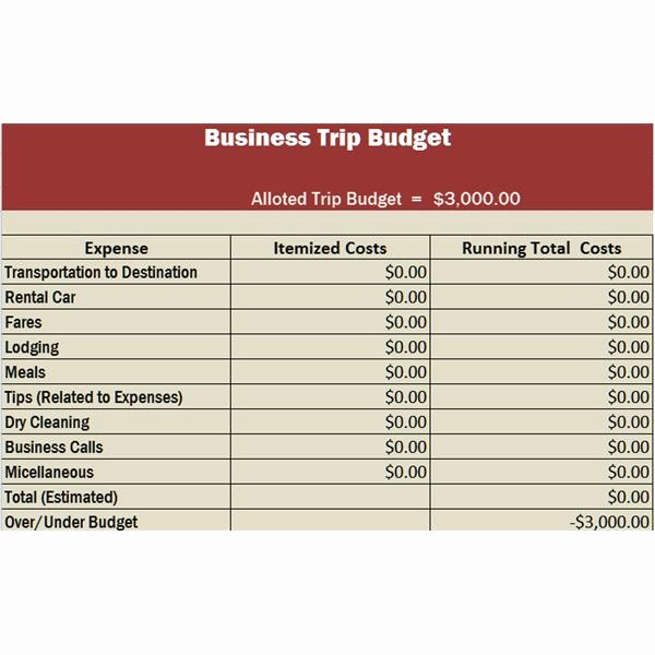 Budget Proposal Template Excel Luxury Travel Business Template In Excel Free Download