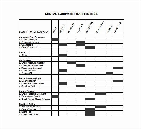 Building Maintenance Log Template Beautiful Machine Maintenance Schedule Template