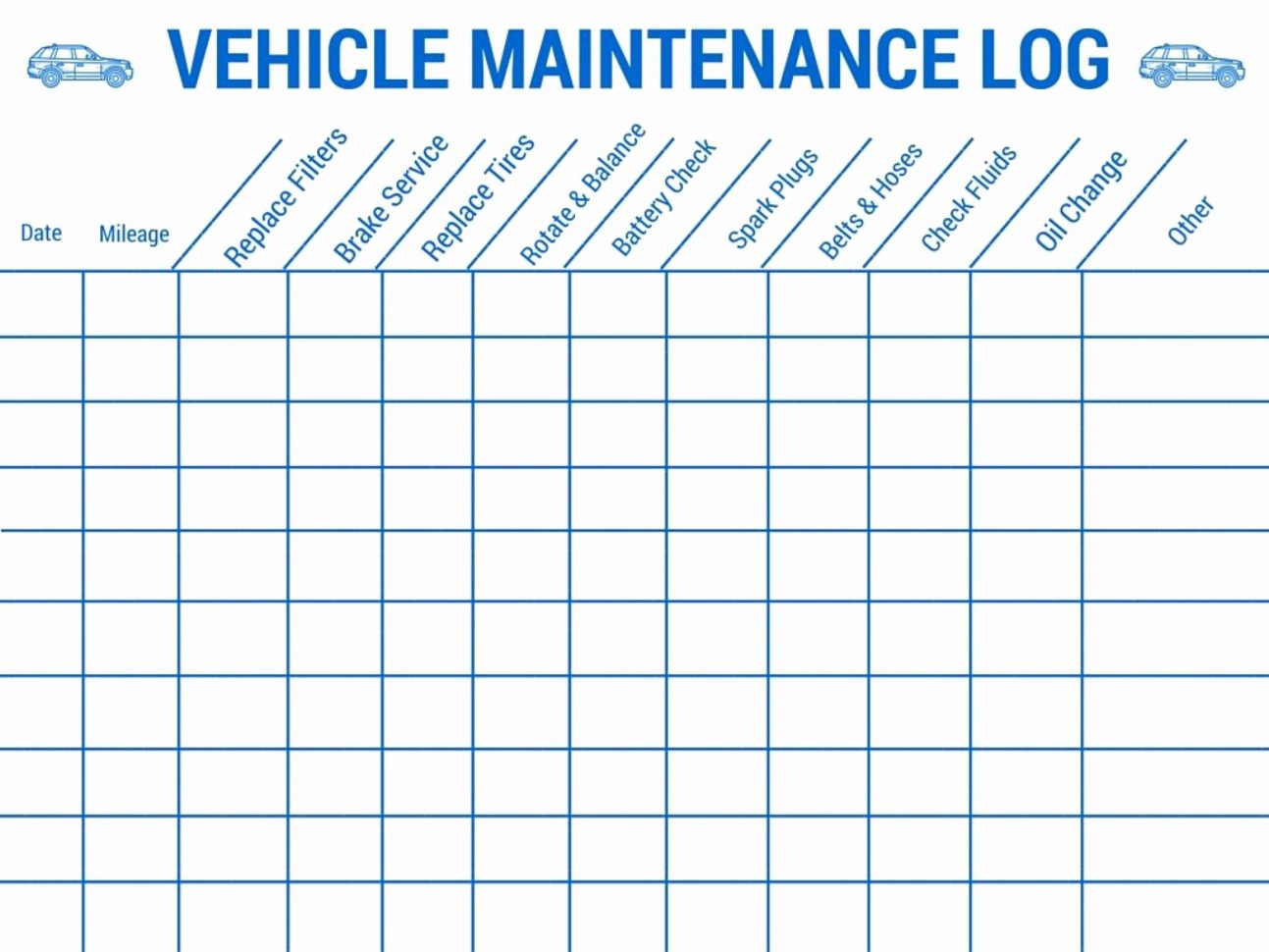 Building Maintenance Log Template Lovely Vehicle Maintenance Tracking Spreadsheet Spreadsheet