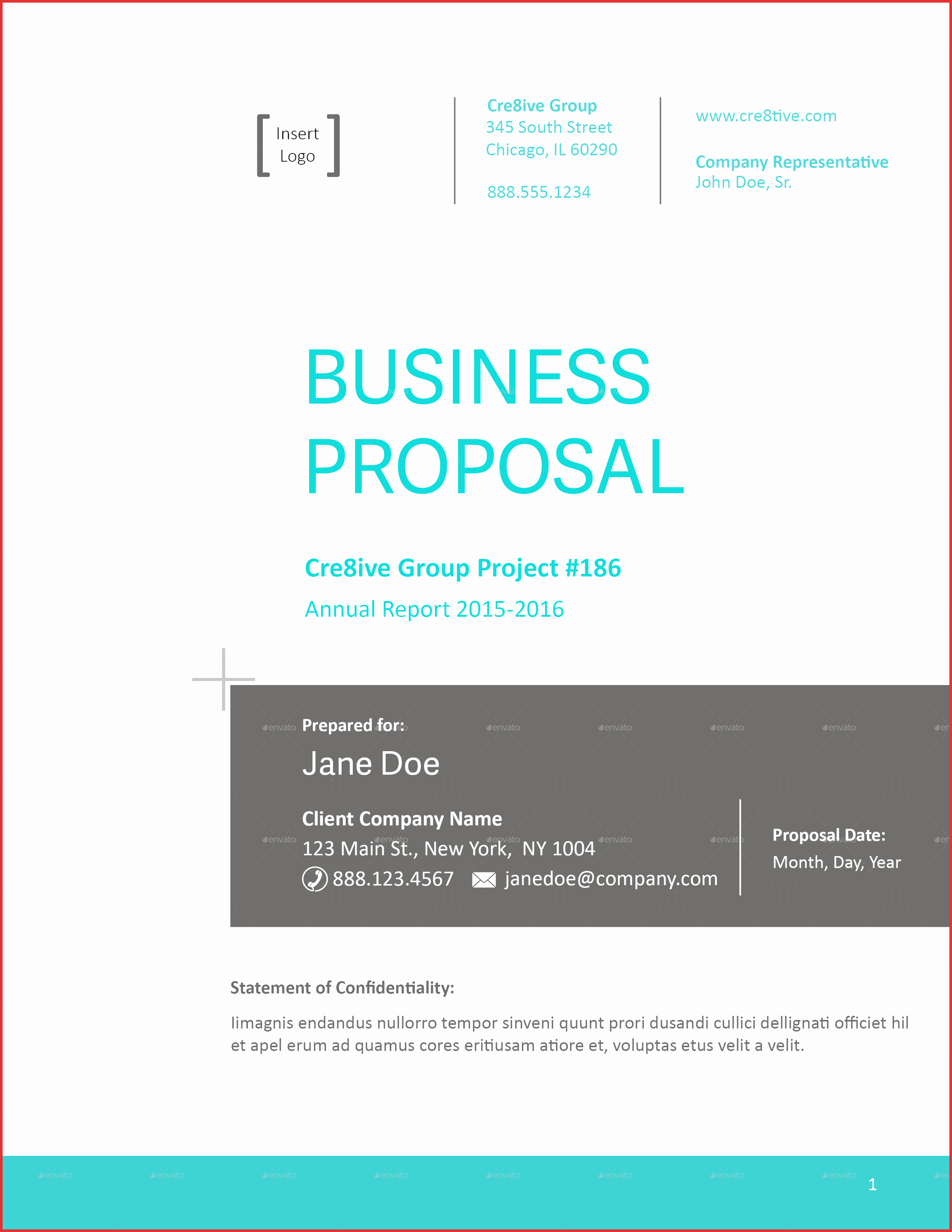 Business Cover Letter Template Fresh Proposal Cover