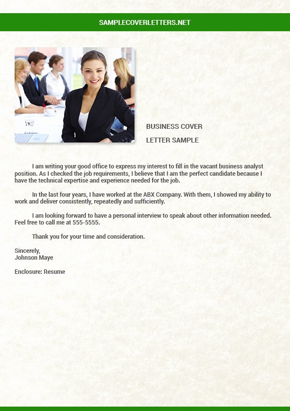 Business Cover Letter Template Unique Business Analyst Cover Letter