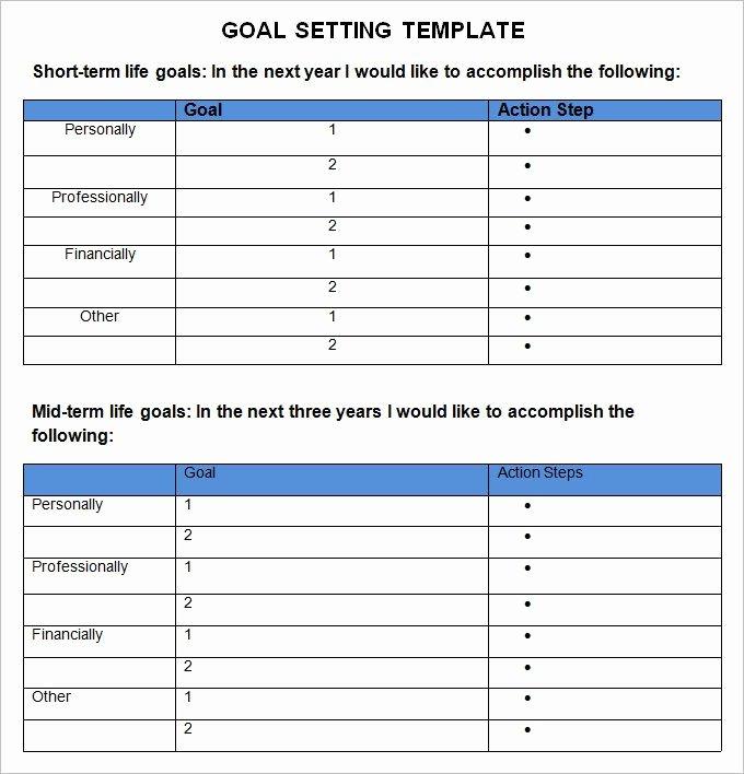 Business Goal Setting Template Beautiful Goal Setting Templates