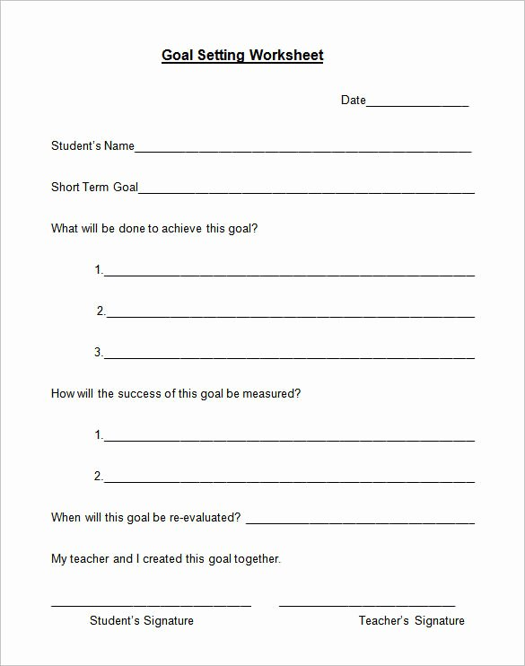 Business Goal Setting Template Best Of Goal Setting Template